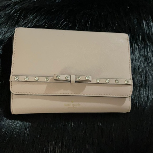 Kate Spade Blush Pink Clutch with optional strap